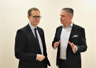 Kommunikations- & Erfolgstrainer Ingo Hoppe mit regierendem Bürgermeister Michael Müller